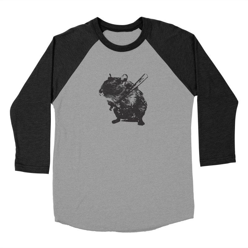 Angry Street Art Mouse Women's Baseball Triblend T-Shirt by Badbugs's Artist Shop