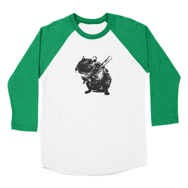 Angry Street Art Mouse Men's Baseball Triblend T-Shirt by Badbugs's Artist Shop