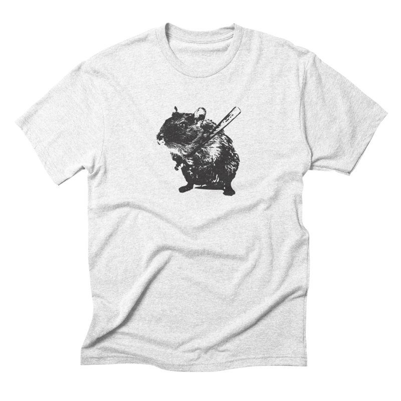 Angry Street Art Mouse Men's Triblend T-shirt by Badbugs's Artist Shop