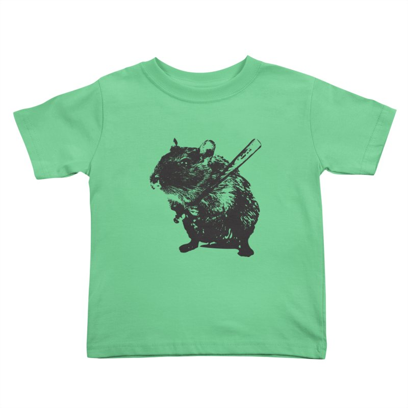 Angry Street Art Mouse Kids Toddler T-Shirt by Badbugs's Artist Shop
