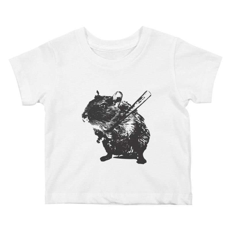 Angry Street Art Mouse Kids Baby T-Shirt by Badbugs's Artist Shop