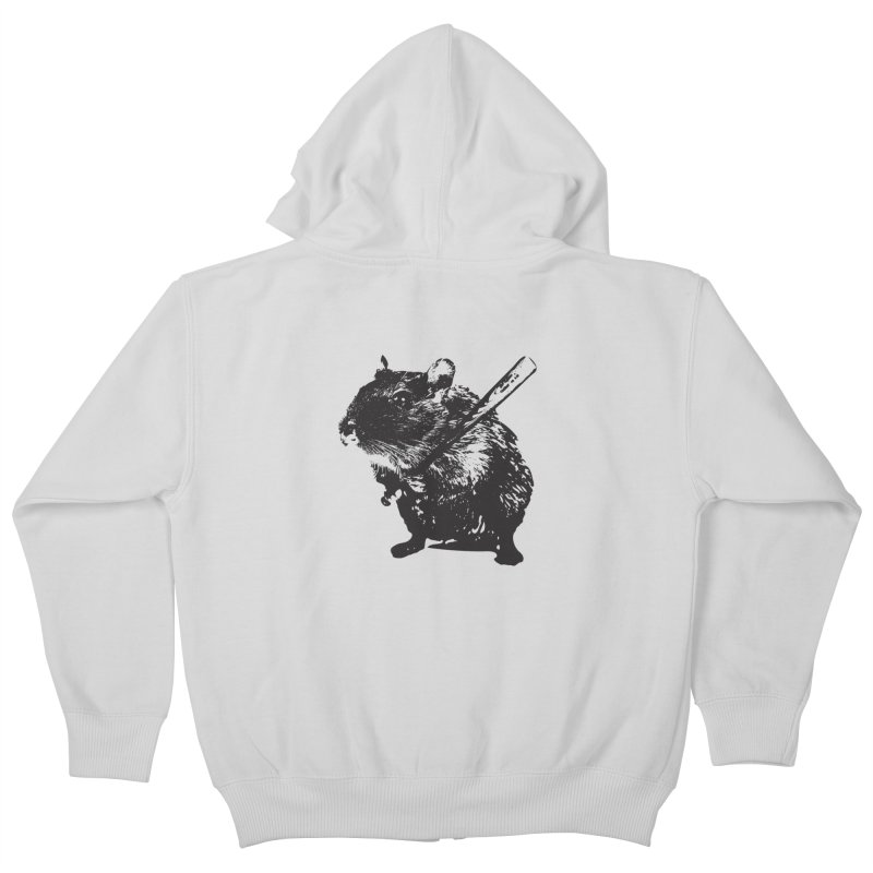 Angry Street Art Mouse Kids Zip-Up Hoody by Badbugs's Artist Shop