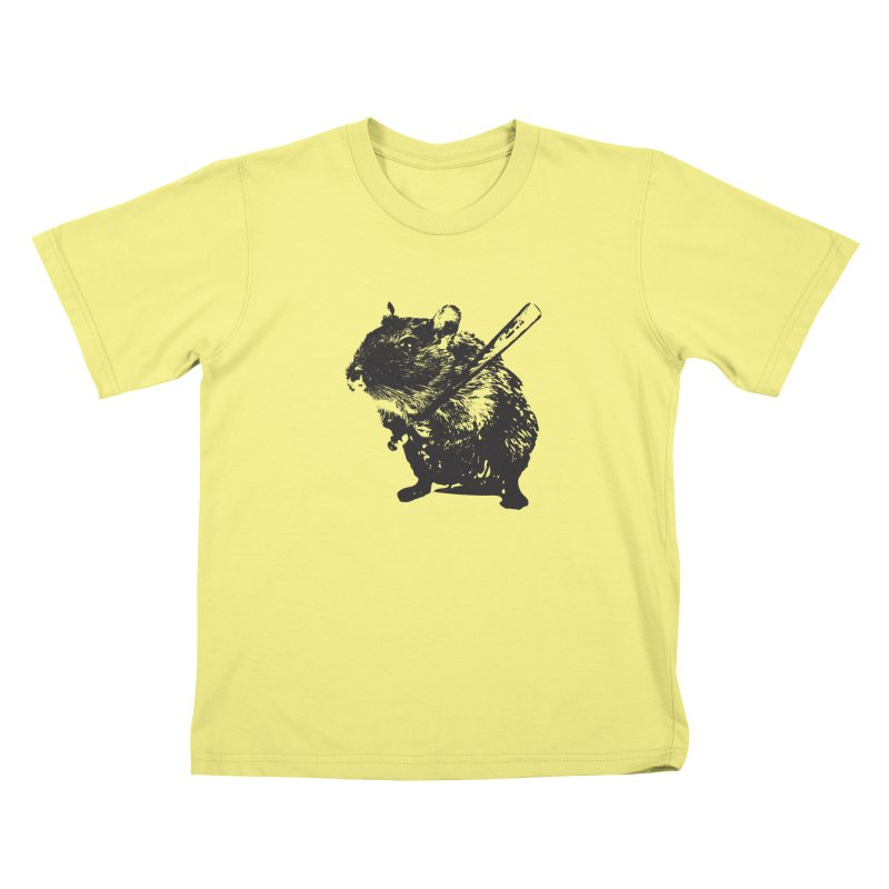 Angry Street Art Mouse Kids T-shirt by Badbugs's Artist Shop