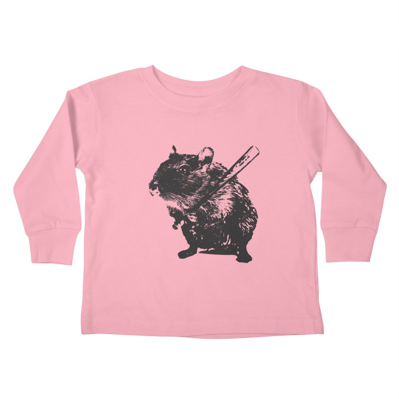 Angry Street Art Mouse Kids Toddler Longsleeve T-Shirt by Badbugs's Artist Shop