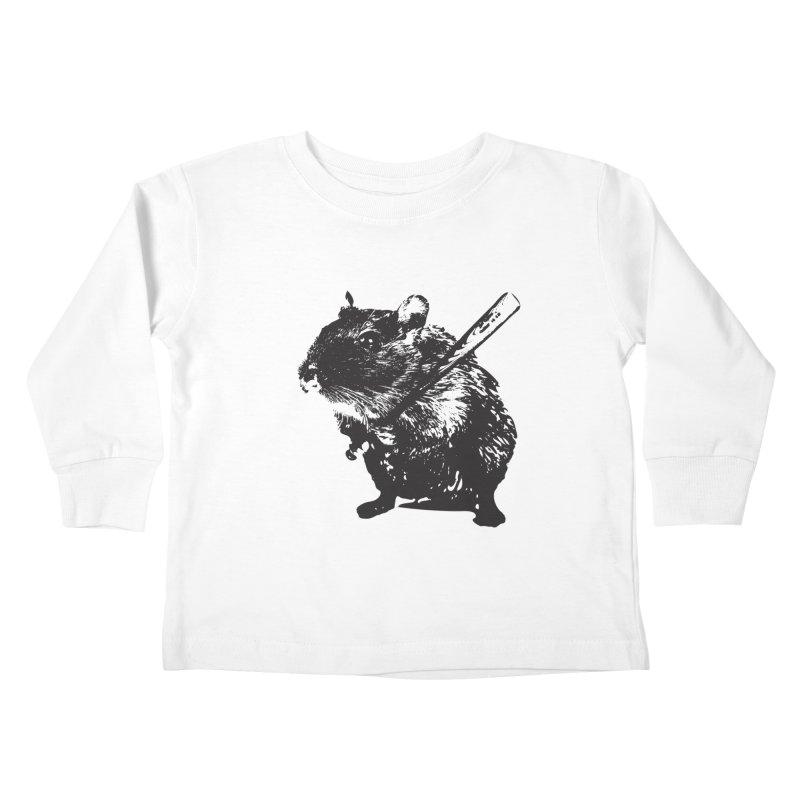 Angry Street Art Mouse Kids Toddler Longsleeve T-Shirt by Badbugs's Artist Shop