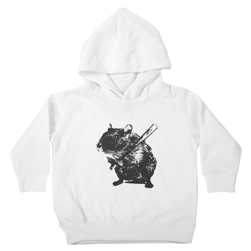 Angry Street Art Mouse Kids Toddler Pullover Hoody by Badbugs's Artist Shop