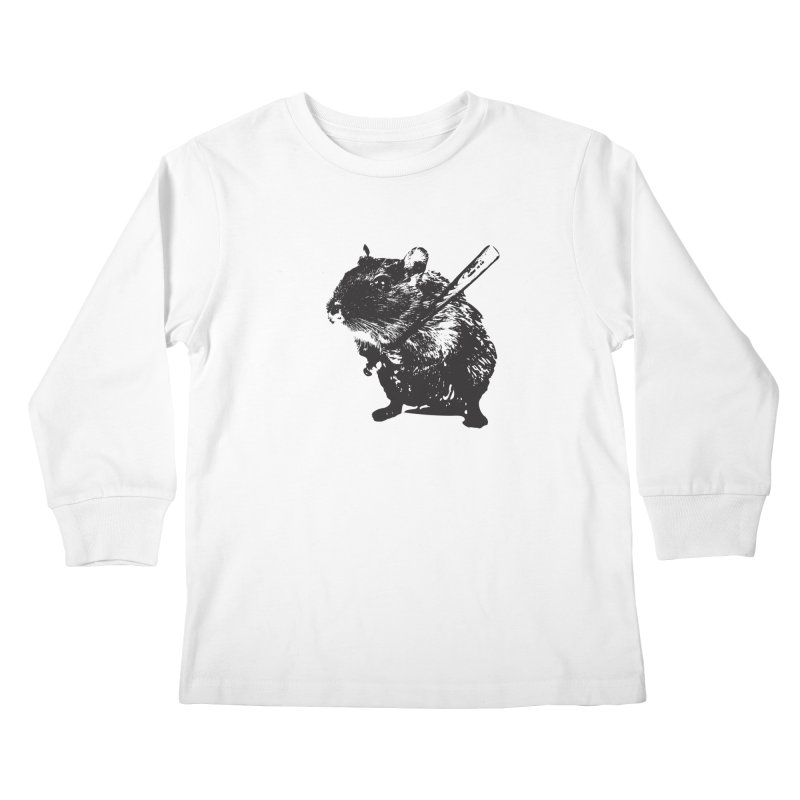 Angry Street Art Mouse Kids Longsleeve T-Shirt by Badbugs's Artist Shop