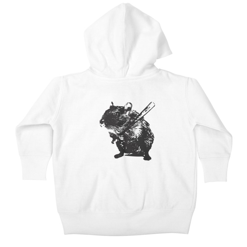 Angry Street Art Mouse Kids Baby Zip-Up Hoody by Badbugs's Artist Shop