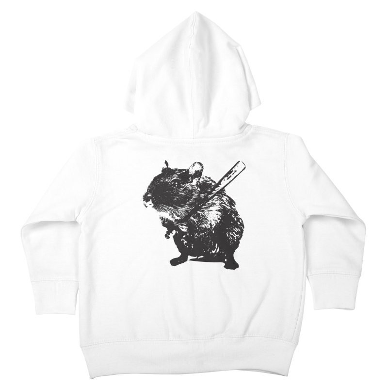 Angry Street Art Mouse Kids Toddler Zip-Up Hoody by Badbugs's Artist Shop