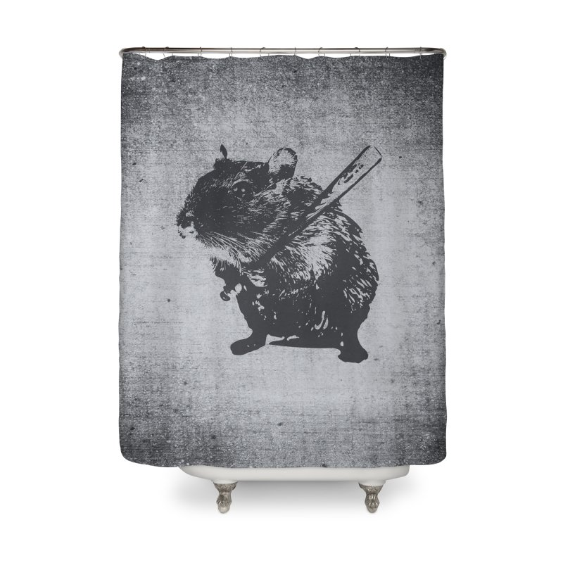 Angry Street Art Mouse Home Shower Curtain by Badbugs's Artist Shop