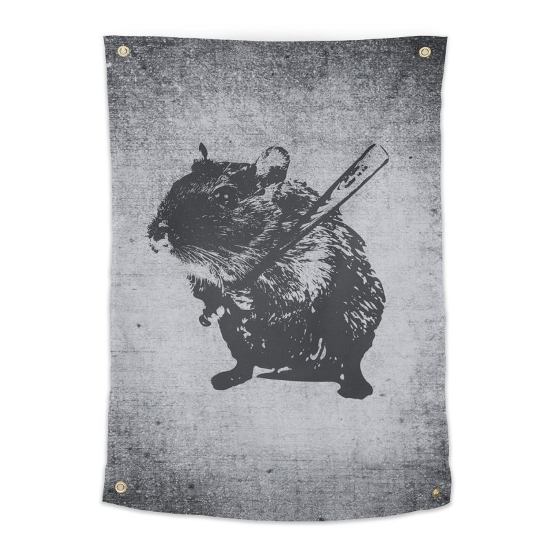 Angry Street Art Mouse Home Tapestry by Badbugs's Artist Shop