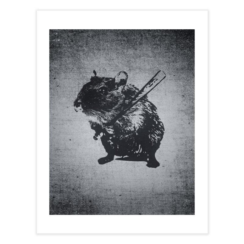 Angry Street Art Mouse Home Fine Art Print by Badbugs's Artist Shop
