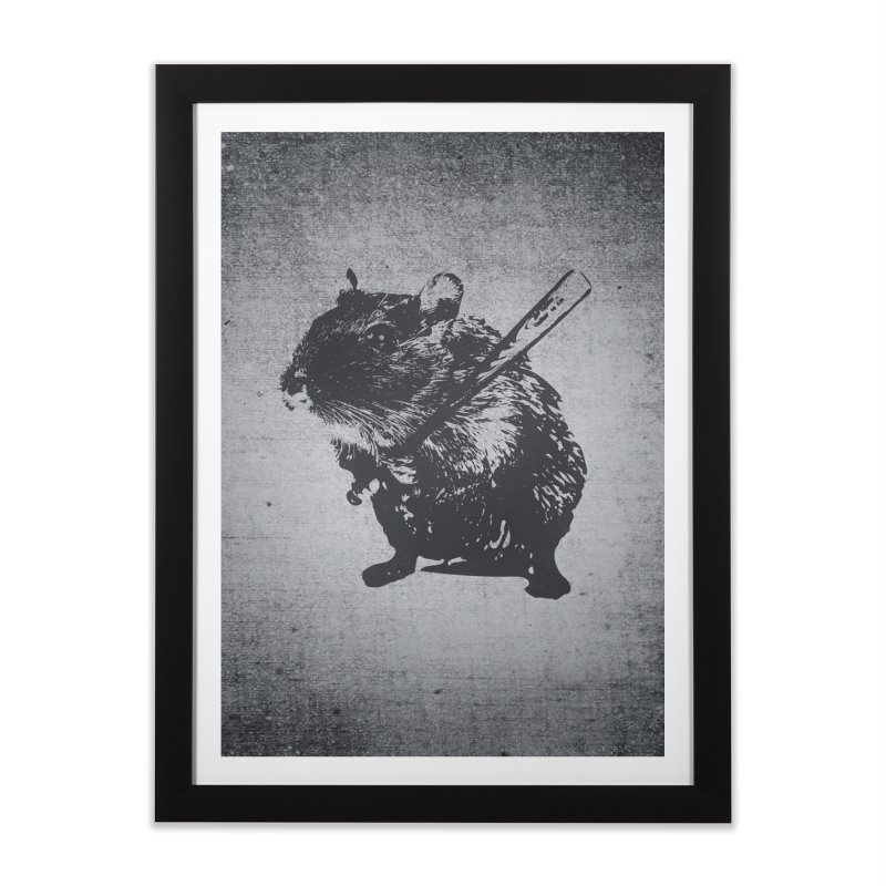 Angry Street Art Mouse Home Framed Fine Art Print by Badbugs's Artist Shop