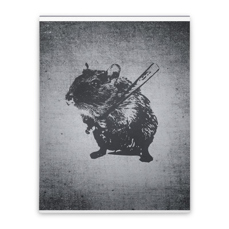 Angry Street Art Mouse Home Stretched Canvas by Badbugs's Artist Shop