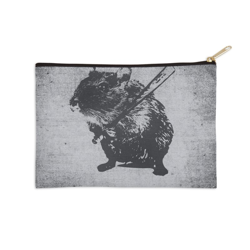 Angry Street Art Mouse Accessories Zip Pouch by Badbugs's Artist Shop