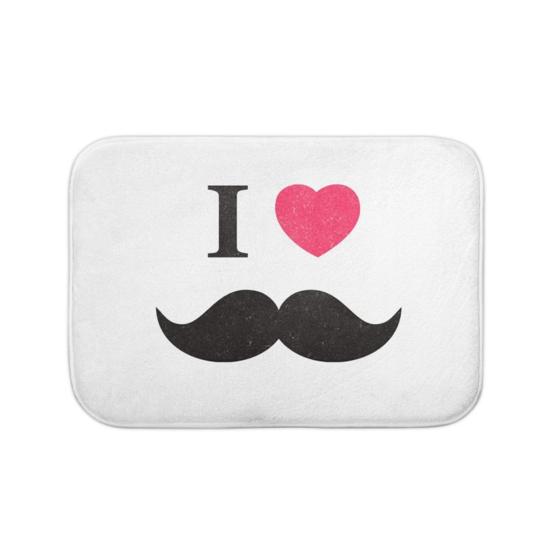 I love mustache! Home Bath Mat by Badbugs's Artist Shop