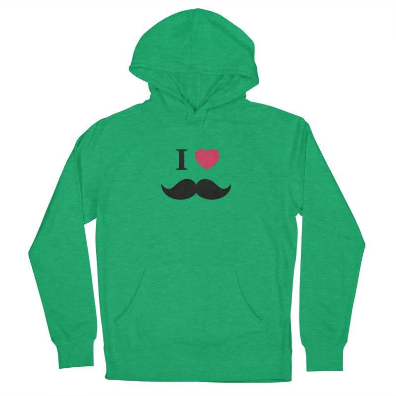 I love mustache! Men's Pullover Hoody by Badbugs's Artist Shop