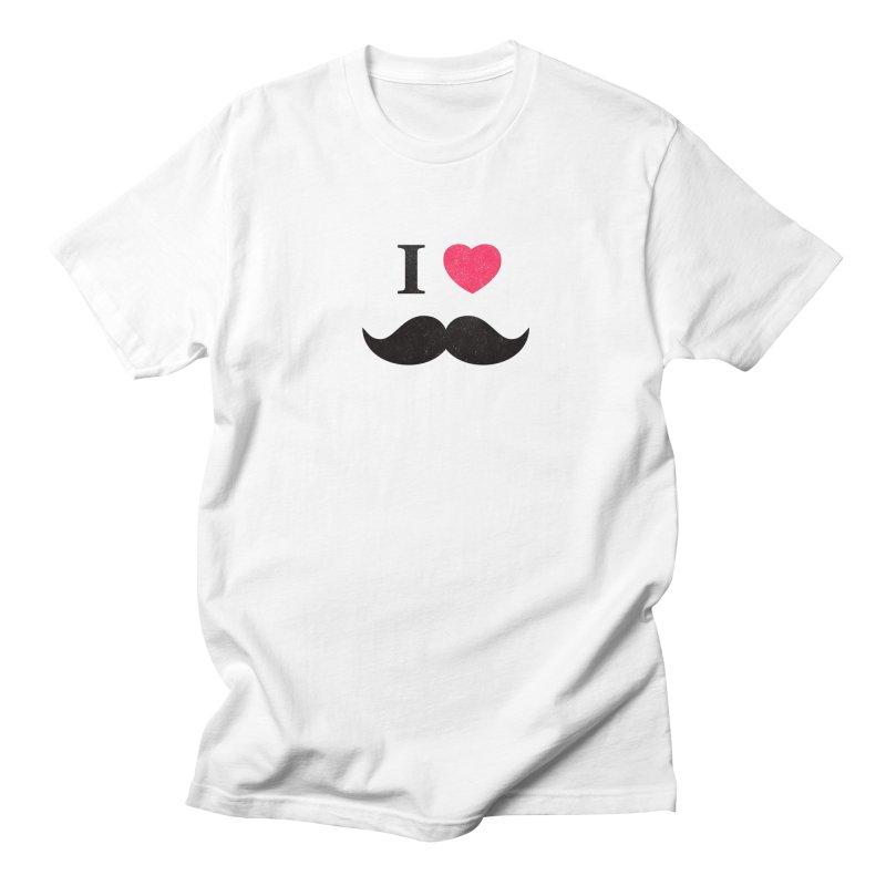 I love mustache! Men's T-shirt by Badbugs's Artist Shop