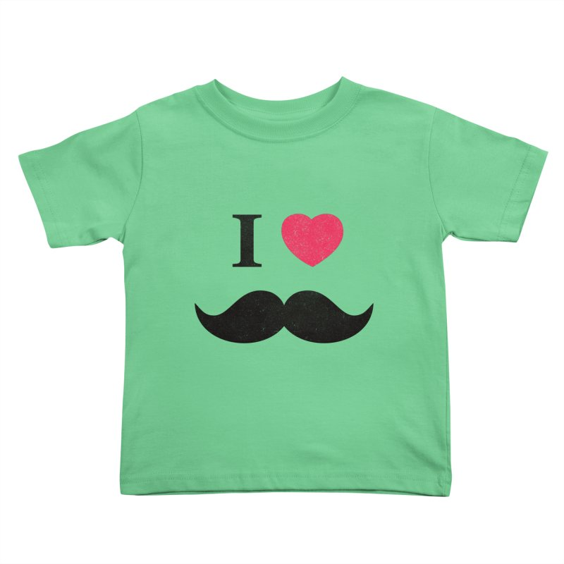 I love mustache! Kids  by Badbugs's Artist Shop