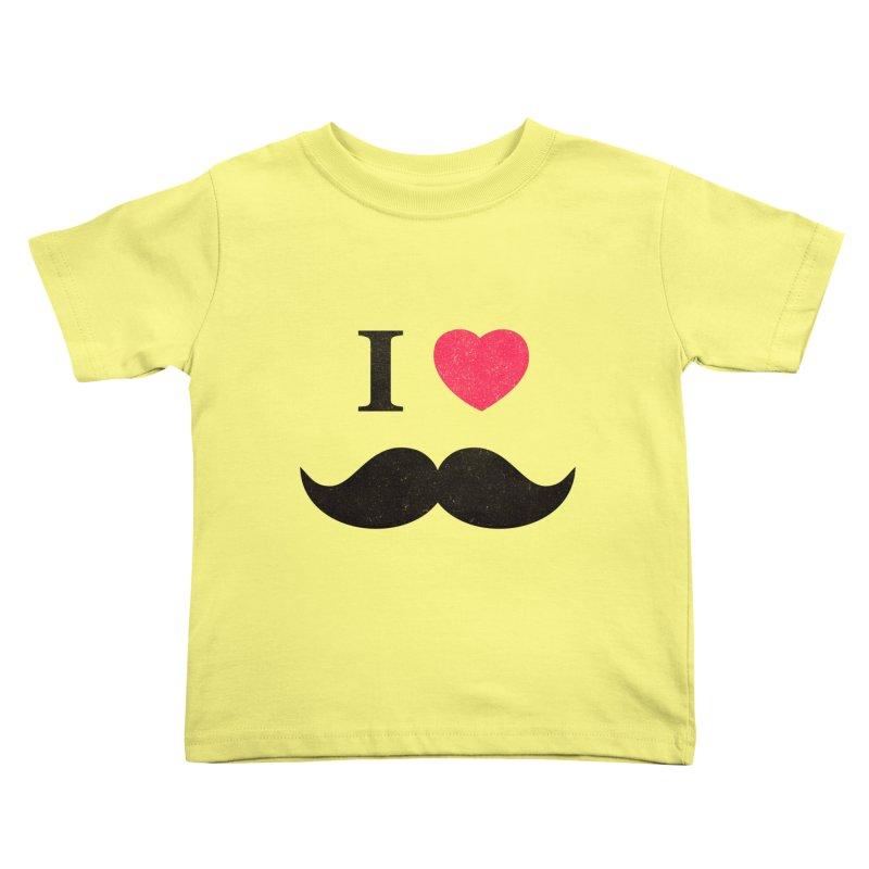 I love mustache! Kids Toddler T-Shirt by Badbugs's Artist Shop