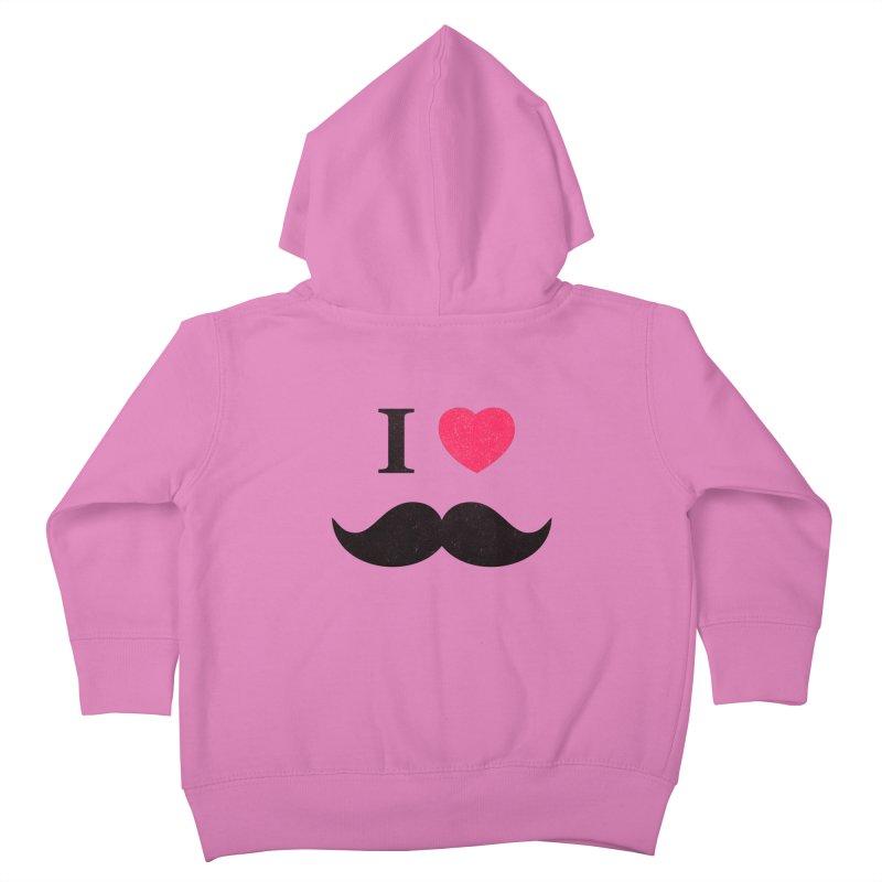 I love mustache! Kids Toddler Zip-Up Hoody by Badbugs's Artist Shop