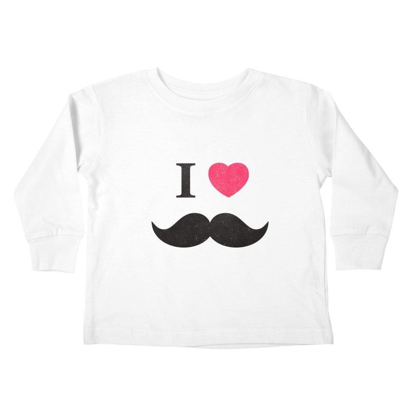 I love mustache! Kids Toddler Longsleeve T-Shirt by Badbugs's Artist Shop