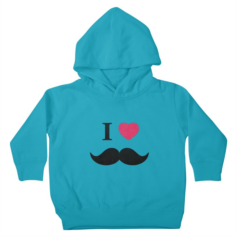 I love mustache! Kids Toddler Pullover Hoody by Badbugs's Artist Shop