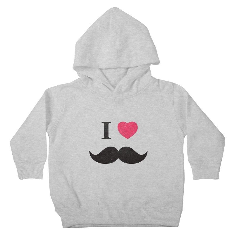 I love mustache! Kids Toddler Pullover Hoody by Badbugs's Artist Shop