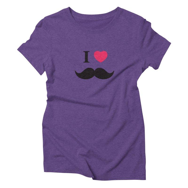 I love mustache! Women's Triblend T-shirt by Badbugs's Artist Shop