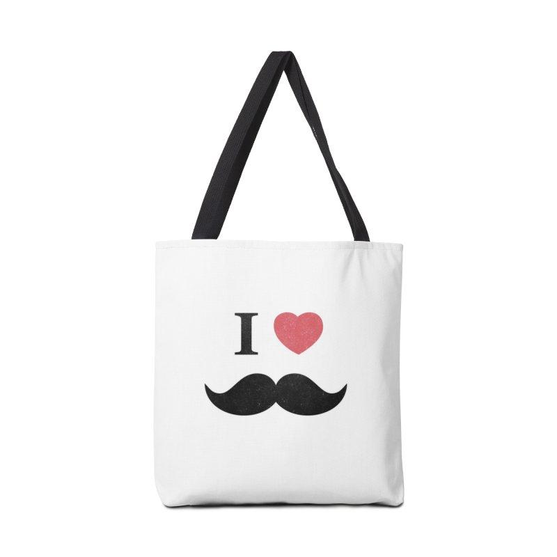 I love mustache! Accessories Bag by Badbugs's Artist Shop