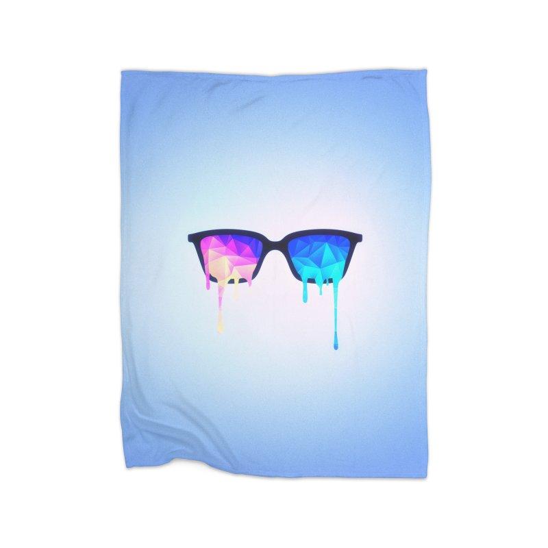 Psychedelic Nerd Glasses Home Blanket by Badbugs's Artist Shop