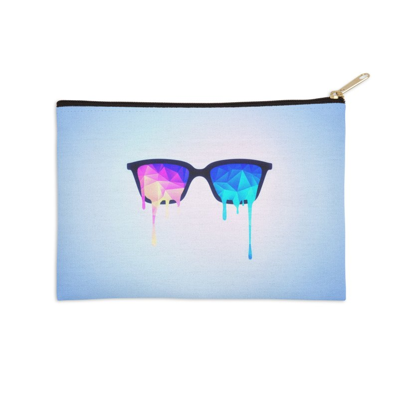 Psychedelic Nerd Glasses Accessories Zip Pouch by Badbugs's Artist Shop
