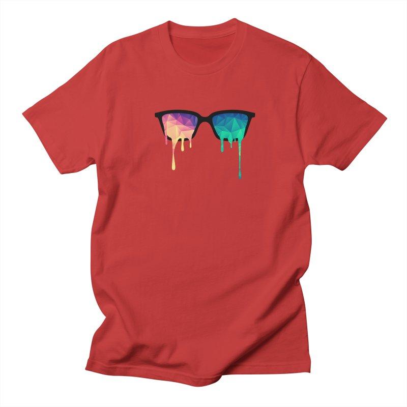 Psychedelic Nerd Glasses Men's T-shirt by Badbugs's Artist Shop