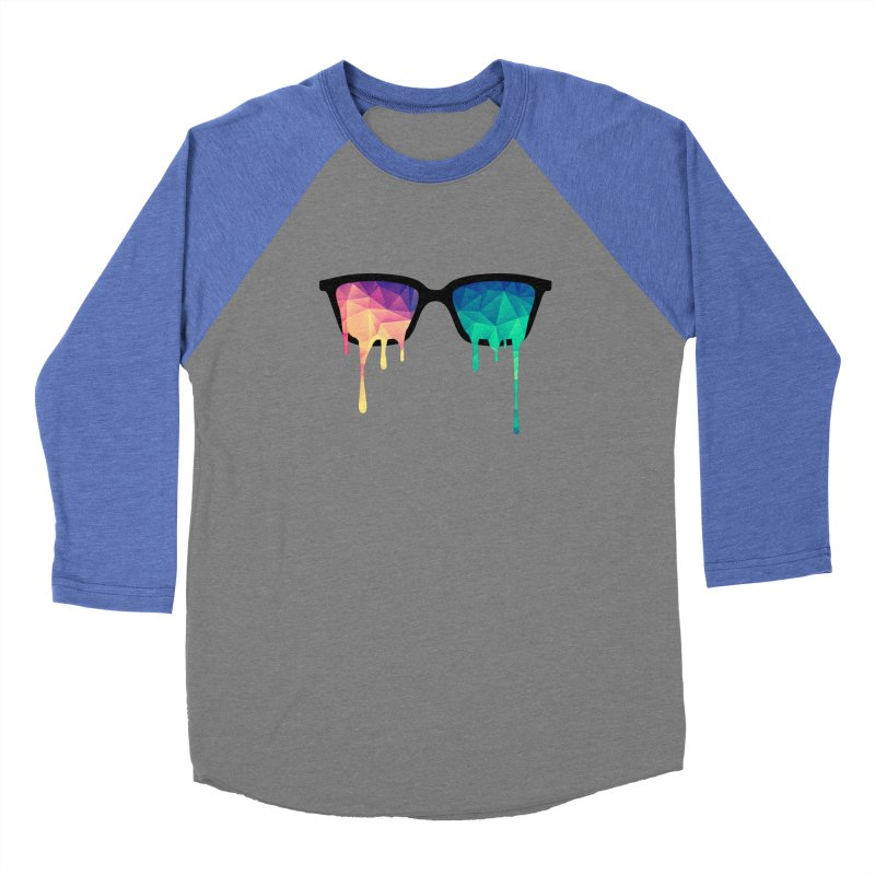 Psychedelic Nerd Glasses Women's Baseball Triblend T-Shirt by Badbugs's Artist Shop