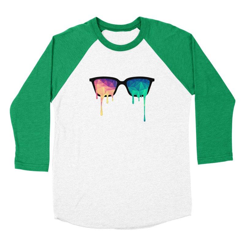 Psychedelic Nerd Glasses Men's Baseball Triblend T-Shirt by Badbugs's Artist Shop