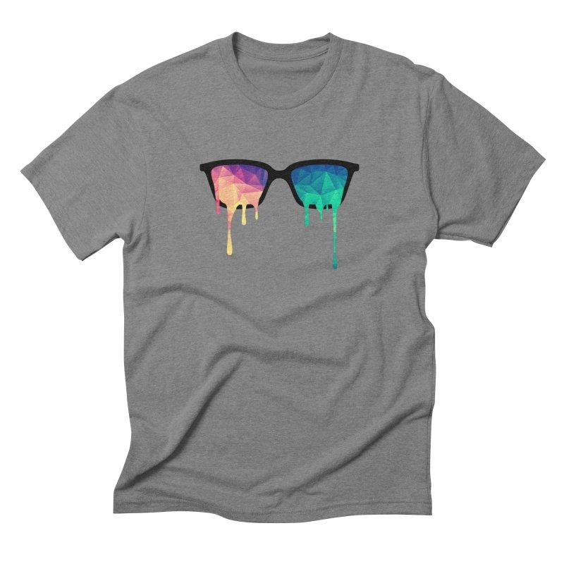 Psychedelic Nerd Glasses Men's Triblend T-shirt by Badbugs's Artist Shop