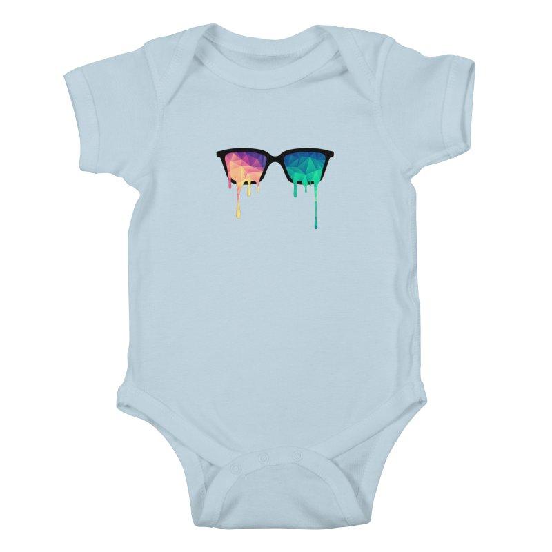 Psychedelic Nerd Glasses Kids Baby Bodysuit by Badbugs's Artist Shop