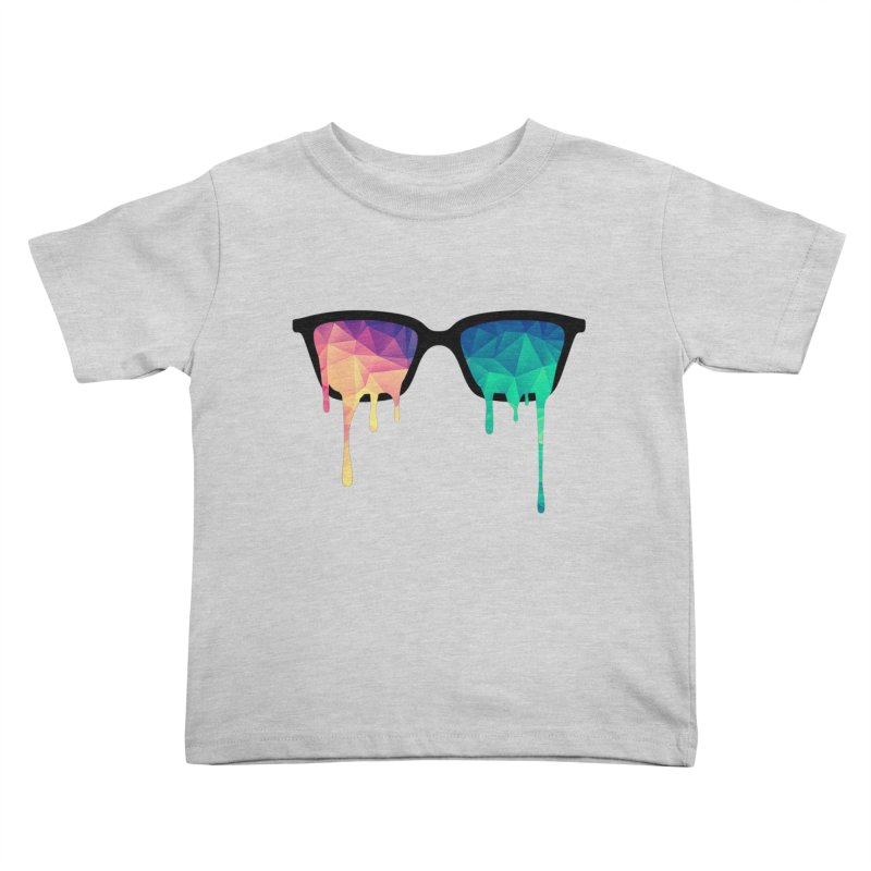 Psychedelic Nerd Glasses Kids Toddler T-Shirt by Badbugs's Artist Shop
