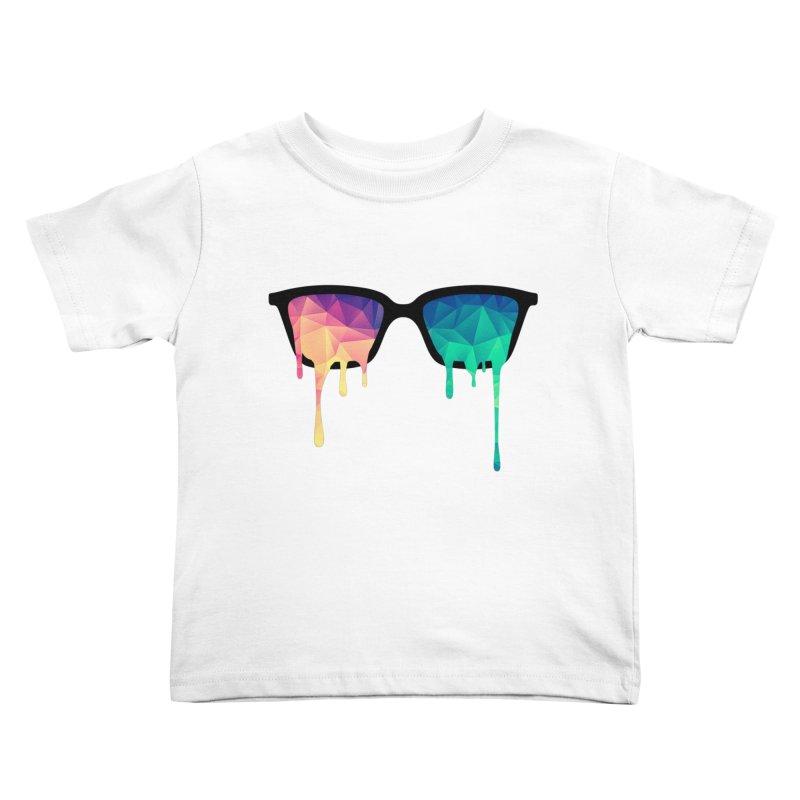 Psychedelic Nerd Glasses Kids Toddler T-Shirt by Badbugs's Artist Shop
