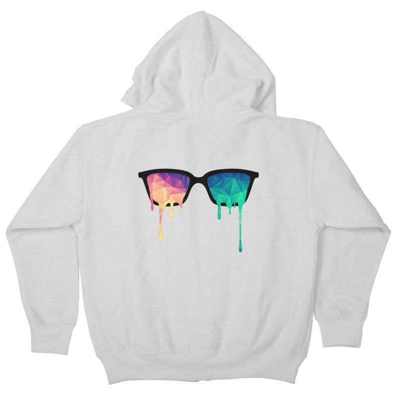 Psychedelic Nerd Glasses Kids Zip-Up Hoody by Badbugs's Artist Shop