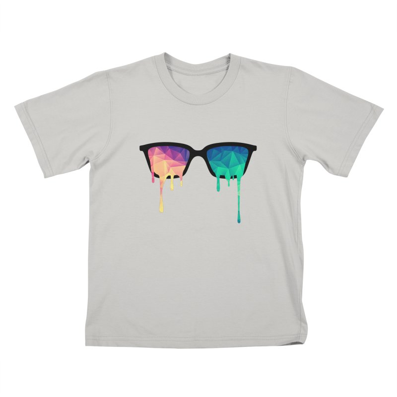 Psychedelic Nerd Glasses Kids T-shirt by Badbugs's Artist Shop