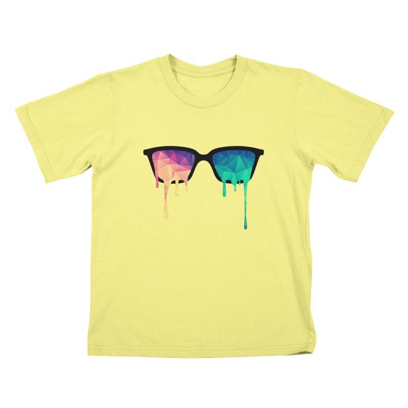 Psychedelic Nerd Glasses Kids T-shirt by Badbugs's Artist Shop