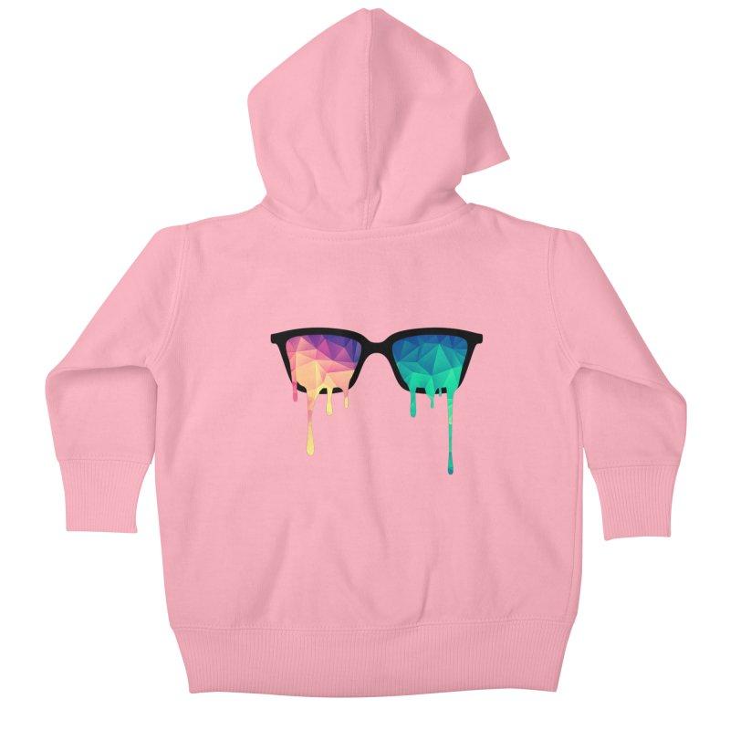 Psychedelic Nerd Glasses Kids Baby Zip-Up Hoody by Badbugs's Artist Shop