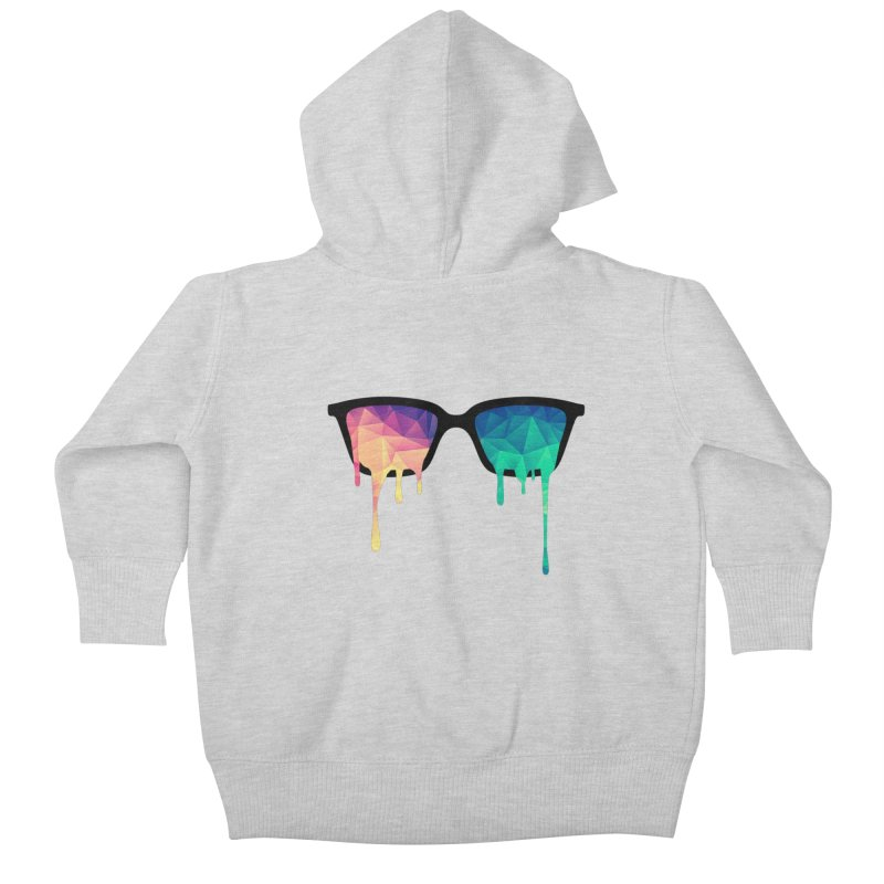 Psychedelic Nerd Glasses Kids Baby Zip-Up Hoody by Badbugs's Artist Shop