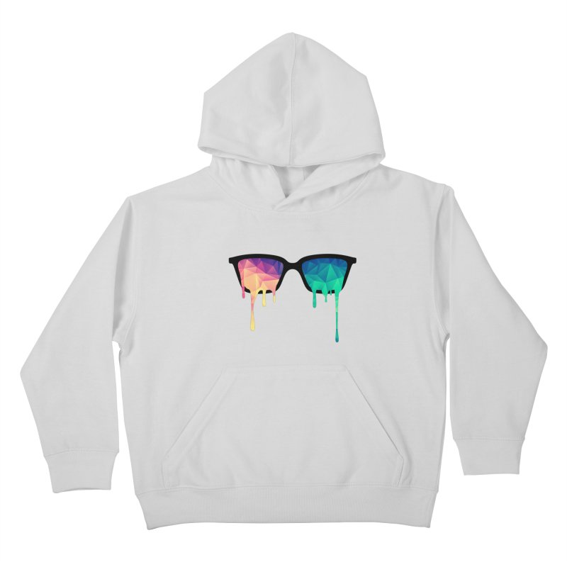 Psychedelic Nerd Glasses Kids Pullover Hoody by Badbugs's Artist Shop