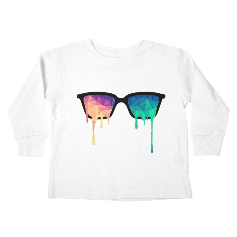 Psychedelic Nerd Glasses Kids Toddler Longsleeve T-Shirt by Badbugs's Artist Shop
