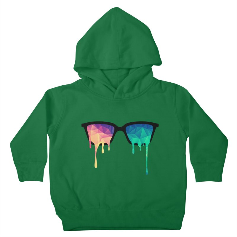 Psychedelic Nerd Glasses Kids Toddler Pullover Hoody by Badbugs's Artist Shop