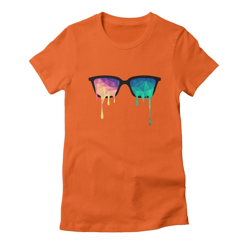 Psychedelic Nerd Glasses Women's Fitted T-Shirt by Badbugs's Artist Shop