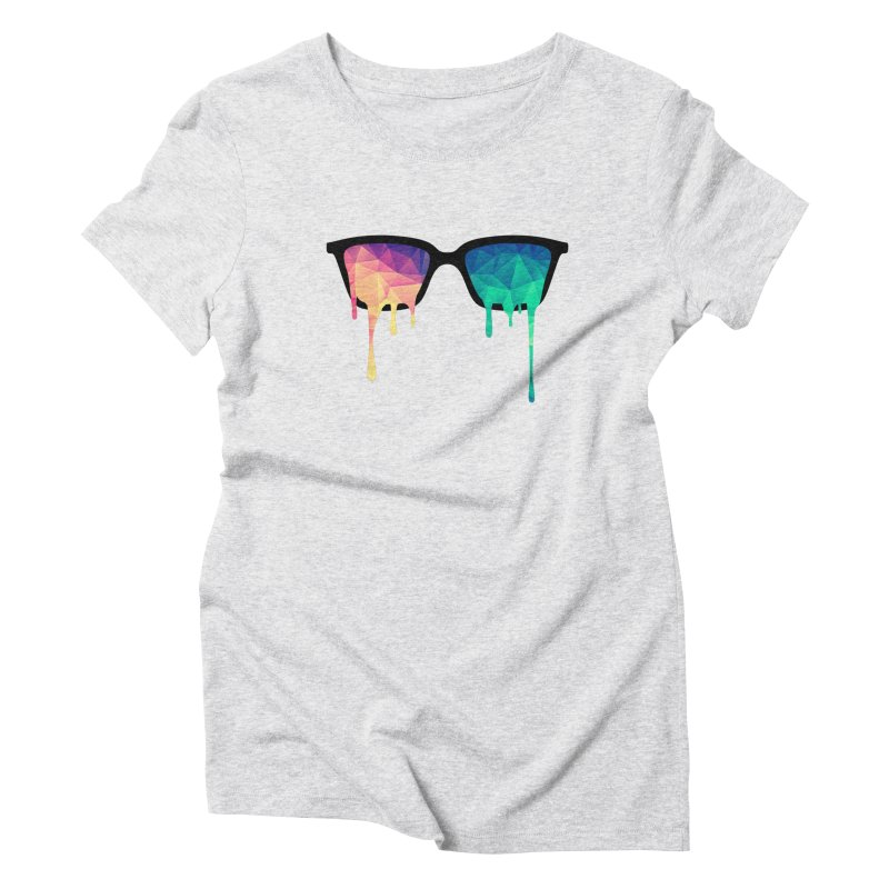 Psychedelic Nerd Glasses Women's Triblend T-shirt by Badbugs's Artist Shop