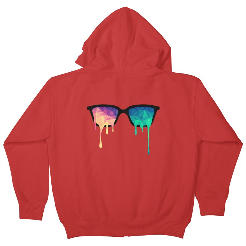 Psychedelic Nerd Glasses Kids Zip-Up Hoody by Badbugs's Artist Shop